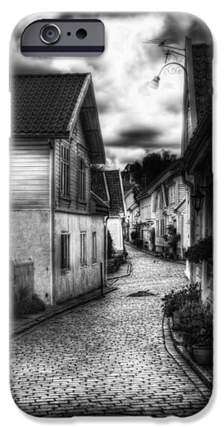 Norway iPhone Cases - Old Stavanger part II iPhone Case by Erik Brede