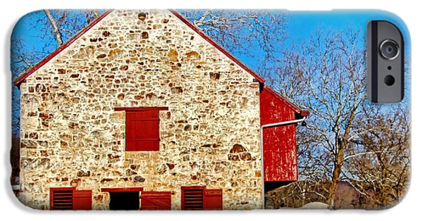 Restored Plantation iPhone Cases - Old Stone Barn iPhone Case by Carolyn Derstine