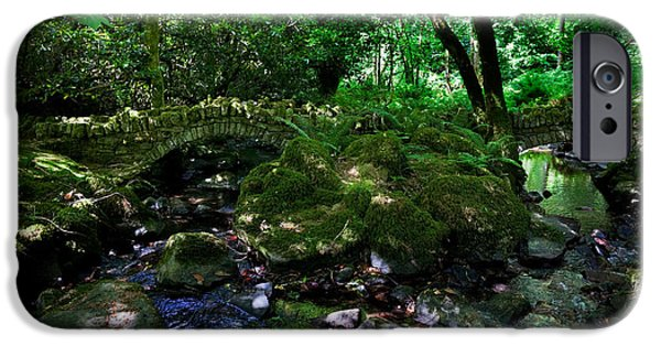 Reconstruction iPhone Cases - Old Stone Bridges Over The Stream iPhone Case by Panoramic Images