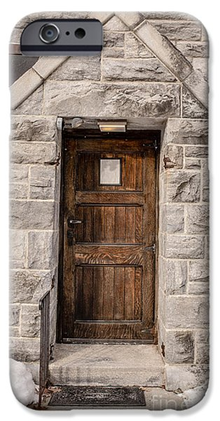Old Stone Church Door iPhone Case by Edward Fielding