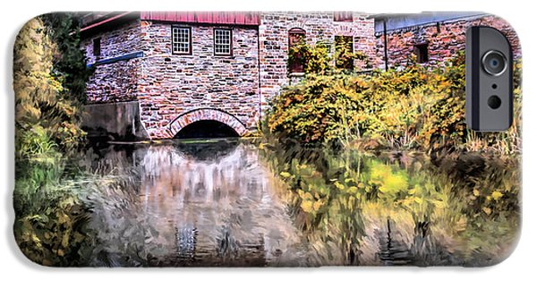Grist Mill iPhone Cases - Old Stone Mill iPhone Case by Wib Dawson