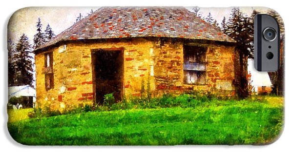 Fieldstone iPhone Cases - Old Stone Schoolhouse - South Canaan iPhone Case by Janine Riley