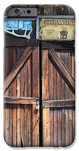 Old Storage Shed At the Swiss Hotel Sonoma California 5D24457 iPhone Case by Wingsdomain Art and Photography