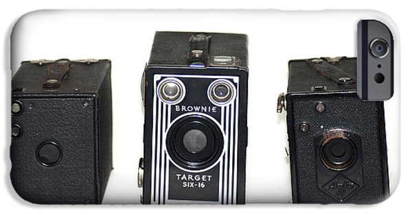 Brownie iPhone Cases - Old Style Cameras iPhone Case by Bill Cannon