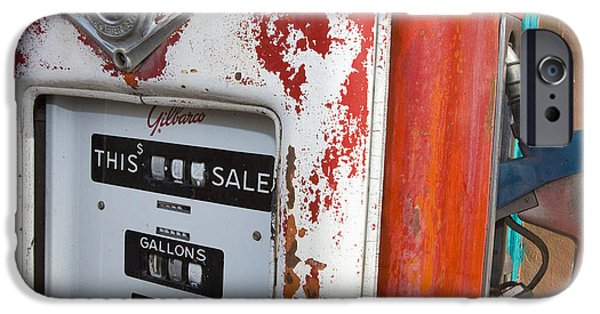 Jason O. Watson iPhone Cases - Old Style Gilbarco gas pump iPhone Case by Jason O Watson