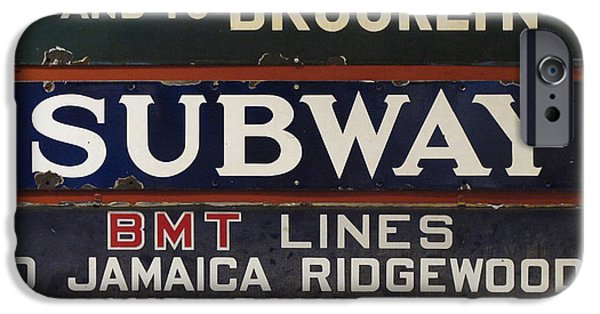 Ridgewood iPhone Cases - Old Subway Signs iPhone Case by Dave Mills