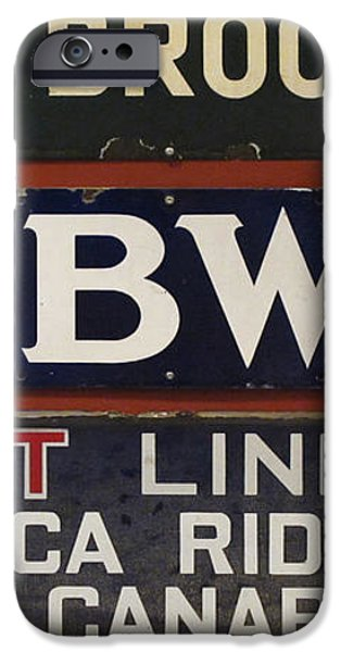 Old Subway Signs iPhone Case by Dave Mills