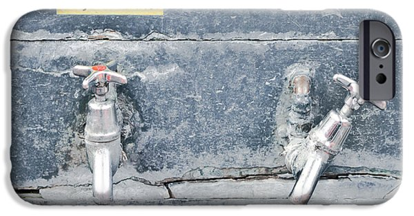 Faucet iPhone Cases - Old taps iPhone Case by Tom Gowanlock