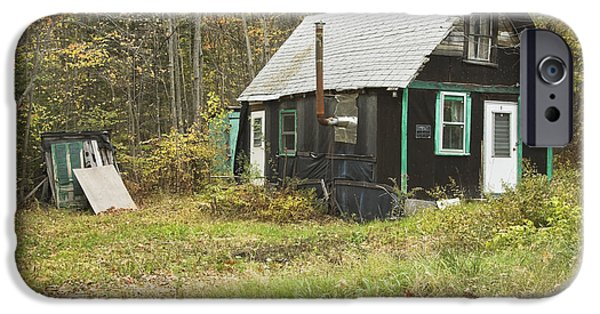 Shed iPhone Cases - Old Tar Paper Shack iPhone Case by Keith Webber Jr
