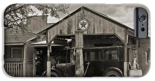 Old Cars iPhone Cases - Old Texaco Gas Station iPhone Case by John Malone