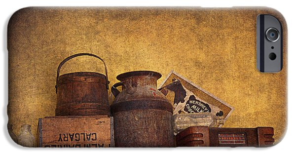 Interior Still Life Digital iPhone Cases - Old Things I iPhone Case by Maria Angelica Maira