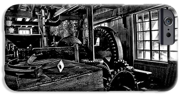 Grist Mill iPhone Cases - Old Time Gears iPhone Case by Adam Jewell