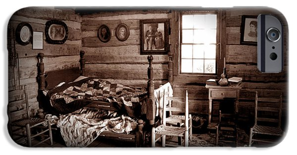 Log Cabin Interiors iPhone Cases - Old-Time Living iPhone Case by Paul W Faust -  Impressions of Light