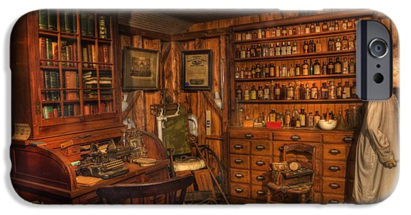 Modern World Photography iPhone Cases - Old Time Pharmacy - Pharmacists - druggists - chemists   iPhone Case by Lee Dos Santos