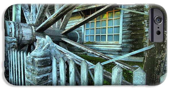 Grist Mill iPhone Cases - Old Time Wheels iPhone Case by Adam Jewell