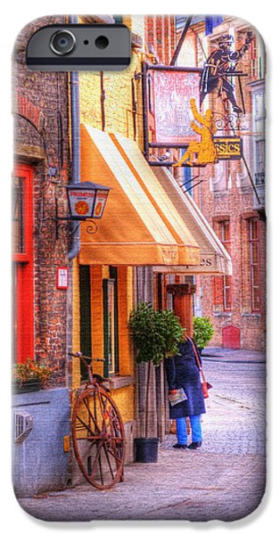 Antiques iPhone Cases - Old Town Bruges Belgium iPhone Case by Juli Scalzi