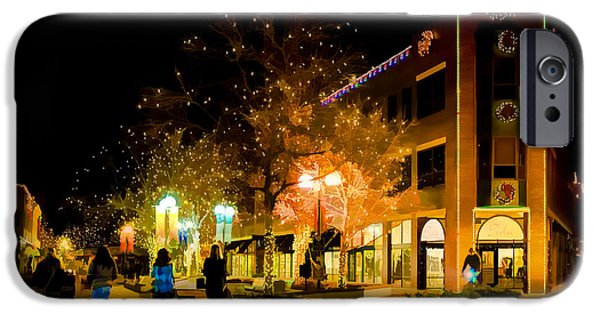Ft Collins iPhone Cases - Old Town Christmas iPhone Case by Jon Burch Photography