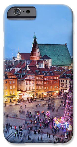 Old Town in Warsaw at Evening iPhone Case by Artur Bogacki