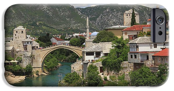 Recently Sold -  - Built Structure iPhone Cases - Old Town of Mostar Bosnia and Herzegovina iPhone Case by Ivan Pendjakov