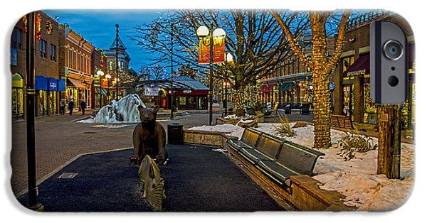 Fort Collins iPhone Cases - Old Town Snow iPhone Case by Keith Ducker