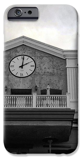 Old Town Digital iPhone Cases - Old Town Temecula - The Clock iPhone Case by Glenn McCarthy