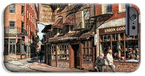 Boston Ma iPhone Cases - Old Towne Boston iPhone Case by Mary Lou Chmura