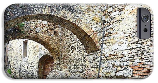 Old Churches iPhone Cases - Old Towns Of Tuscany San Gimignano Italy iPhone Case by Irina Sztukowski