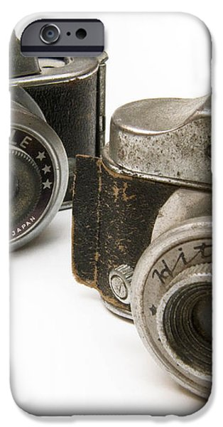 Old Toy Cameras iPhone Case by Amy Cicconi