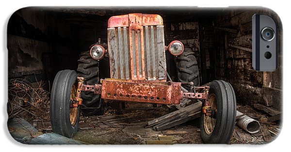 Gary Heller iPhone Cases - Old tractor Face iPhone Case by Gary Heller