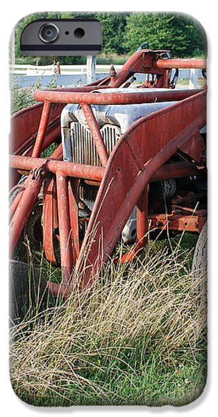 old tractor iPhone Case by Jennifer Lyon