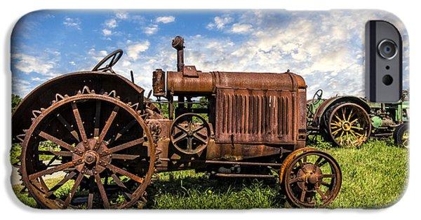 Recently Sold -  - Field. Cloud iPhone Cases - Old Tractors iPhone Case by Debra and Dave Vanderlaan