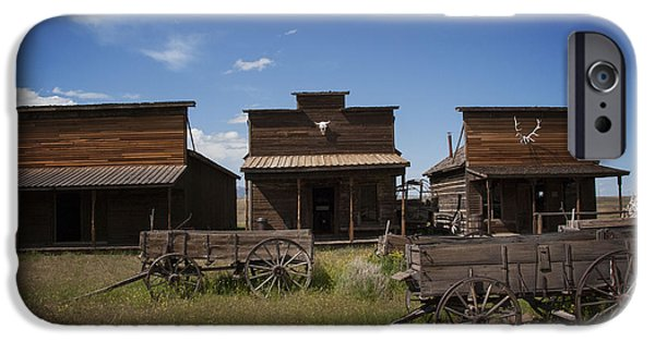 Abandoned iPhone Cases - Old Trail Town iPhone Case by Juli Scalzi