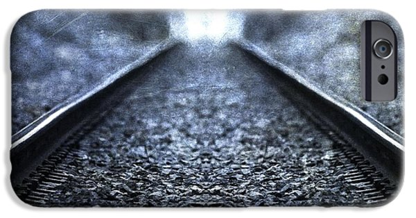 Great Mysteries iPhone Cases - Old Train Tracks iPhone Case by Dan Sproul