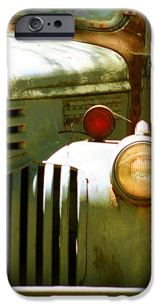 Old Trucks Photographs iPhone Cases - Old Truck Abstract iPhone Case by Ben and Raisa Gertsberg