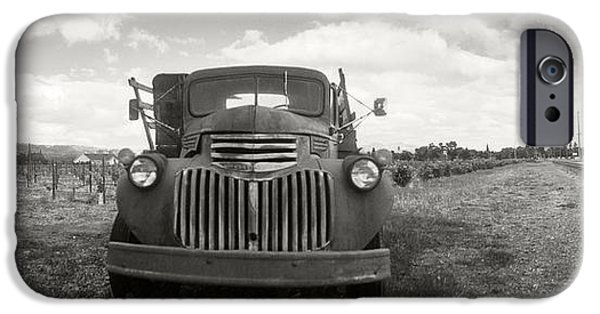 Winery Photography iPhone Cases - Old Truck In A Field, Napa Valley iPhone Case by Panoramic Images