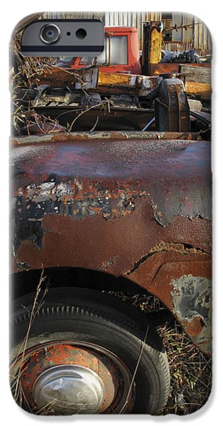 Rust iPhone Cases - Old Trucks iPhone Case by Melinda Fawver