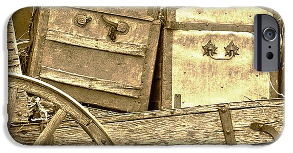 Genoa Bar iPhone Cases - Old Trunks in Genoa Nevada iPhone Case by Artist and Photographer Laura Wrede