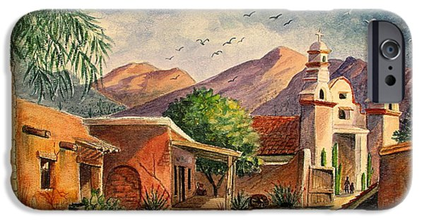Buildings iPhone Cases - Old Tucson iPhone Case by Marilyn Smith