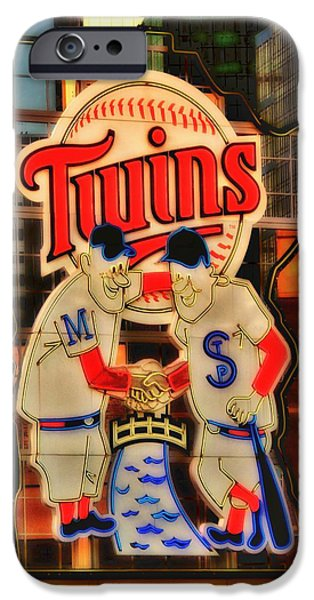 Minnesota Twins Mixed Media iPhone Cases - Old Twins Sign iPhone Case by Todd and candice Dailey