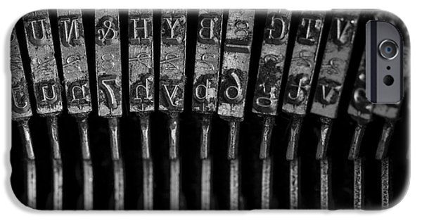 Typewriter Keys Photographs iPhone Cases - Old Typewriter Keys iPhone Case by Edward Fielding