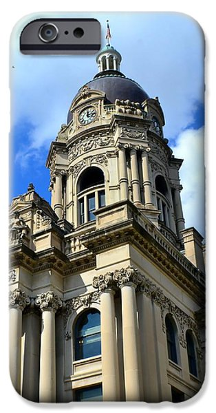 Nineteenth iPhone Cases - Old Vanderburgh County Courthouse iPhone Case by Deena Stoddard