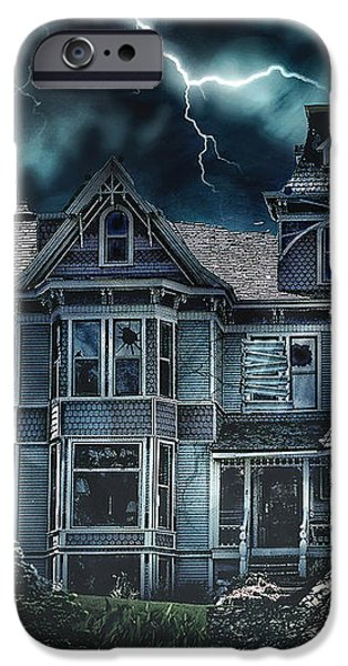 Old Victorian House iPhone Case by Mo T