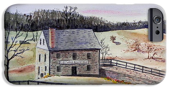Stonewall Paintings iPhone Cases - Virginia - Old Mill iPhone Case by Christine Lathrop
