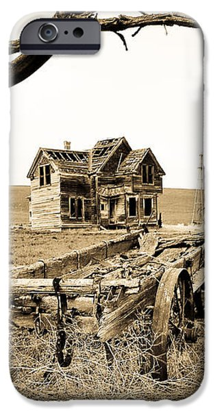 Old Wagon and Homestead II iPhone Case by Athena Mckinzie