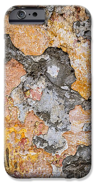 Chip iPhone Cases - Old wall abstract iPhone Case by Elena Elisseeva
