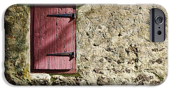 Historic Home iPhone Cases - Old Wall and Door iPhone Case by Olivier Le Queinec