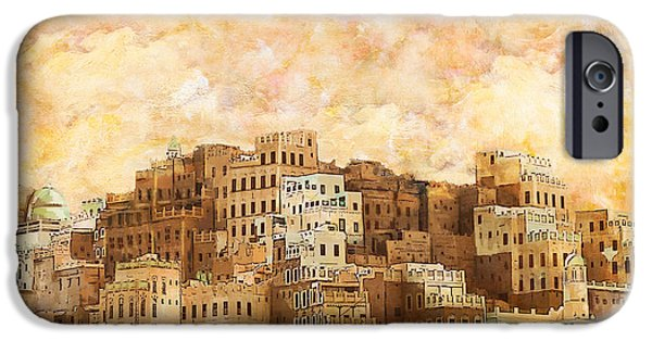 Museum iPhone Cases - Old walled city of Shibam iPhone Case by Catf