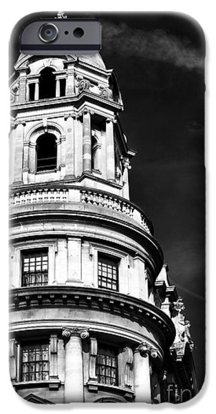 Monotone iPhone Cases - Old War Office Building iPhone Case by John Rizzuto