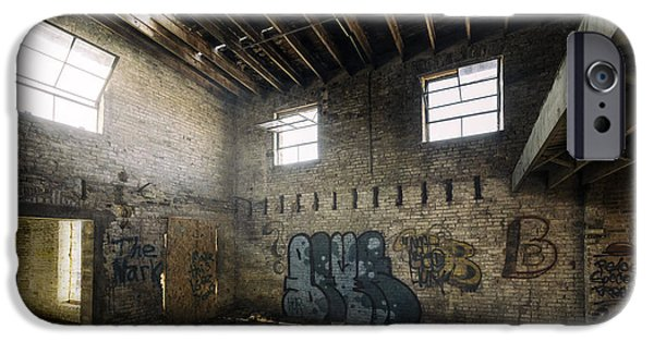 Urban Photographs iPhone Cases - Old Warehouse Interior iPhone Case by Scott Norris