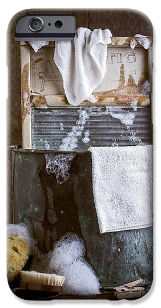 Brush Photographs iPhone Cases - Old Wash Tub iPhone Case by Edward Fielding